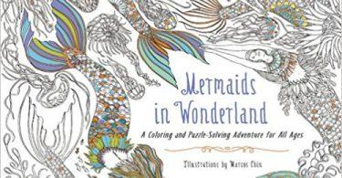 Mermaids in Wonderland Coloring Book cover