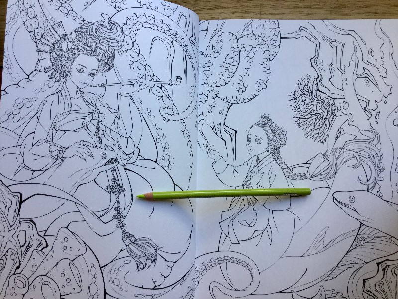 Korean Fairy Tale Hanbok Coloring Book  17 800x600 - Fairy Tale Korean Illustrations  - Hanbok  - Coloring Book Review