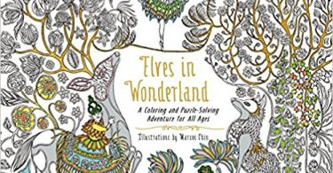 elvesinwonderland 375x195 - Millie Marotta's Beautiful Birds and Treetop Treasures: A colouring book adventure