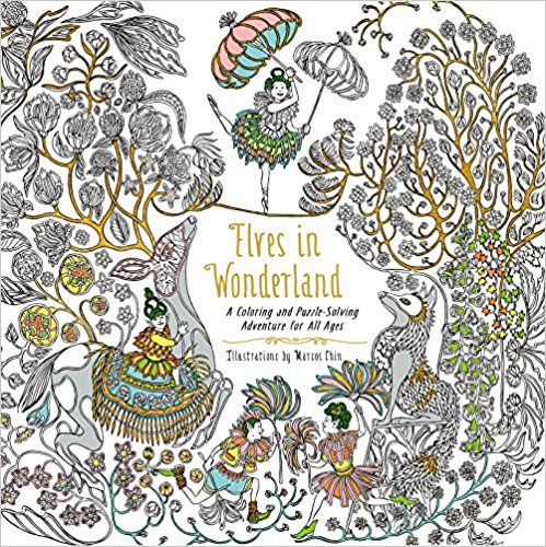 Elves in Wonderland: A Coloring and Puzzle-Solving Adventure for All ...