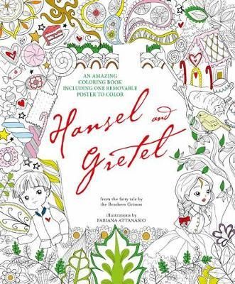 Hansel and Gretel Coloring Book cover art