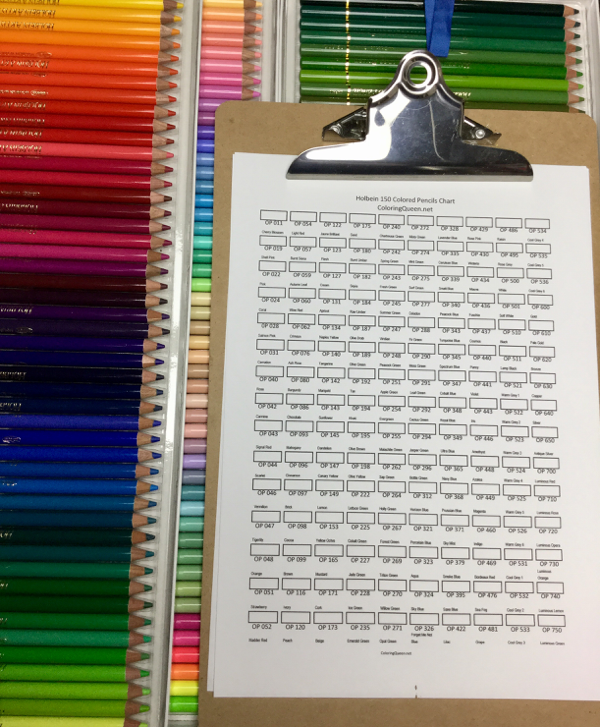 Download 150 pc Holbein blank color chart