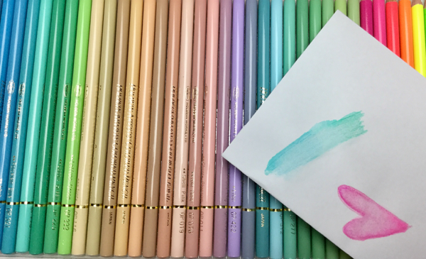 Holbein pencils as watercolors