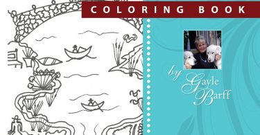 American Folk Art Coloring Book Gayle Barff1 375x195 - Scenic Lighthouses Coloring Book Review