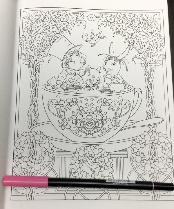 Alice in Wonderland Creative Haven  8 - Alice in Wonderland Coloring Book Review