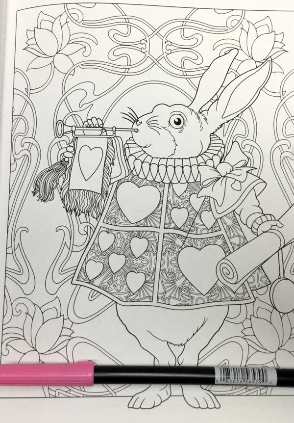 Alice in Wonderland Creative Haven 23 - Alice in Wonderland Coloring Book Review