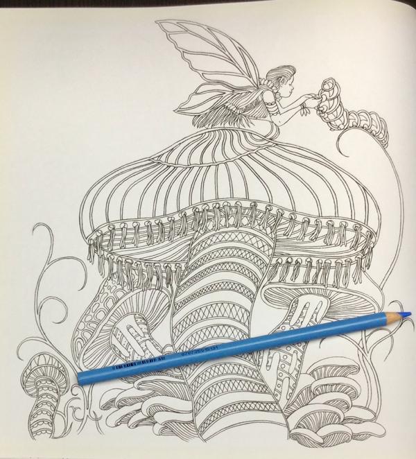 Fairies in Wonderland Coloring Book Review  9 - Fairies in Wonderland Coloring Book Review