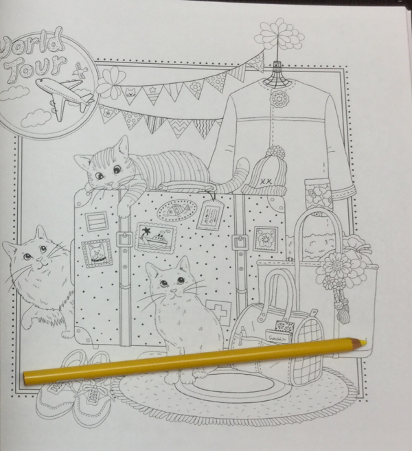 keiko cat coloring book  11 - Yasuragi no Garden - The Walking Path of a Dreaming Cat  Coloring Book Review