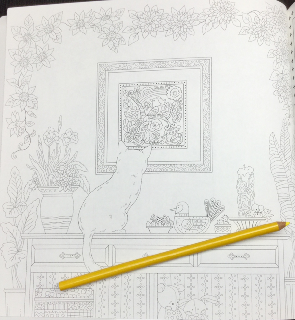 keiko cat coloring book  14 - Yasuragi no Garden - The Walking Path of a Dreaming Cat  Coloring Book Review