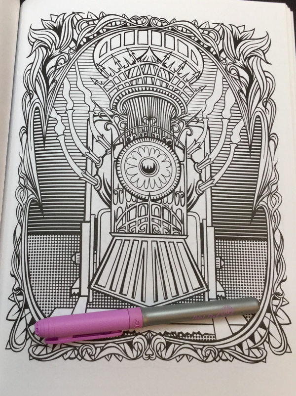 steampunk devices coloring book review coloring queen