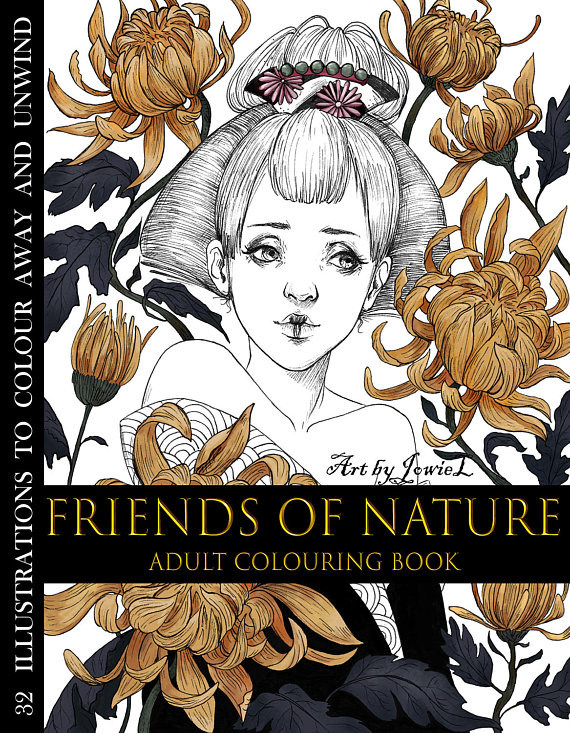 Friends of Nature Coloring Book Review | Coloring Queen