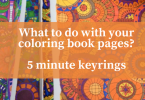 What to do with your coloring book pages  145x100 - Quick Keyrings in less than 5 minutes