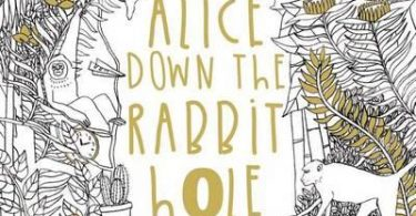 alice down the rabbit hole 375x195 - Once Upon A Time Coloring Book Review