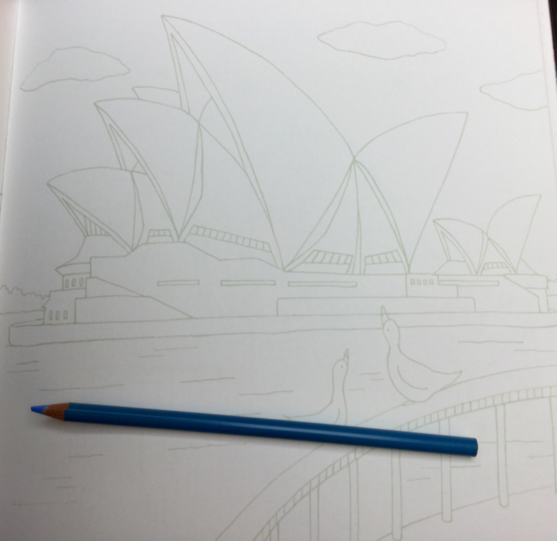 Drawing Around the World Coloring Book Review   Coloring Queen