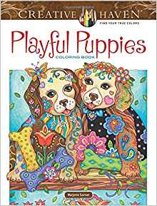 Creative Haven Playful Puppies Coloring Book (working title) (Adult Coloring)