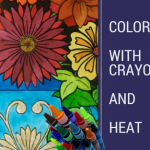 coloring with crayons and heat 150x150 - What to do with your coloring pages? Quick paper mache bowl