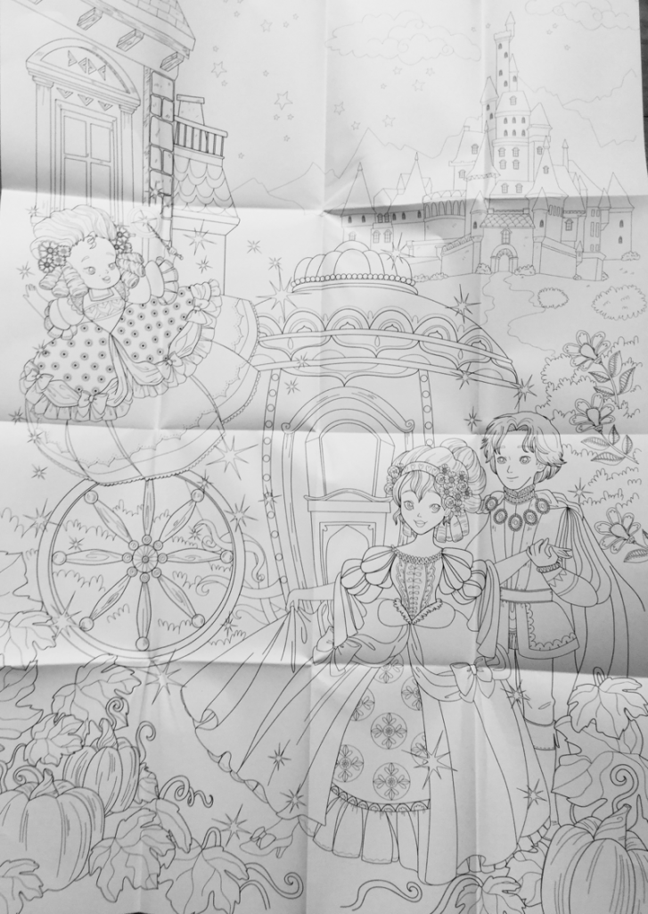 Cinderella amazing colouring book poster 16 727x1024 - Cinderella:  An Amazing Coloring Book Review