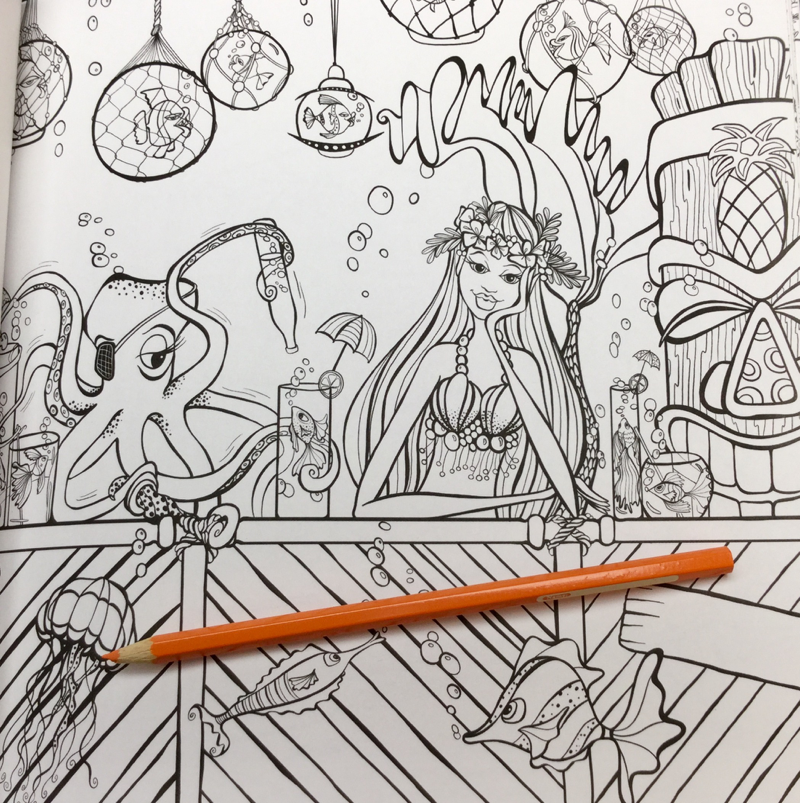 mermaids in paradise coloring book Review 16 - Mermaids in Paradise Coloring Book Review