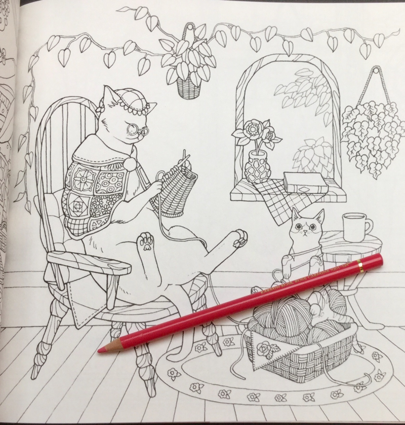 Cat Coloring Therapy Coloring Book Review | Coloring Queen
