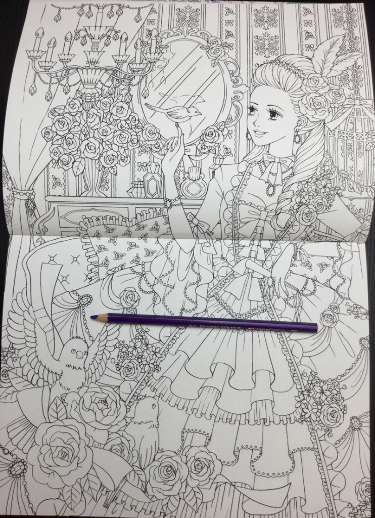 Beautiful Dress Japanese Coloring Book17 742x1024 - Beautiful Dress Coloring Book Review