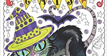 halloween cats coloring book 375x195 - Midnight Gardens Coloring Book Review