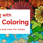 Tulip Garden 150x150 - Enchanted Fairies Coloring Book Review