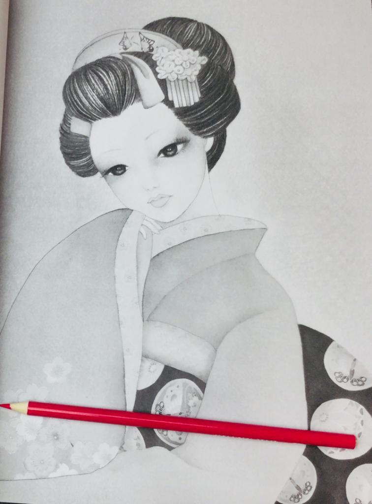 japanese girls coloring book ikuko  4209 756x1024 - Japanese Girls Coloring Book Review