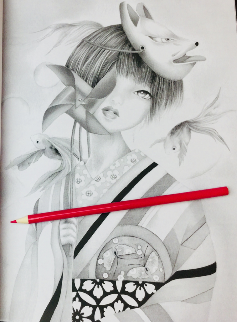 Japanese Girls Coloring Book Review | Coloring Queen