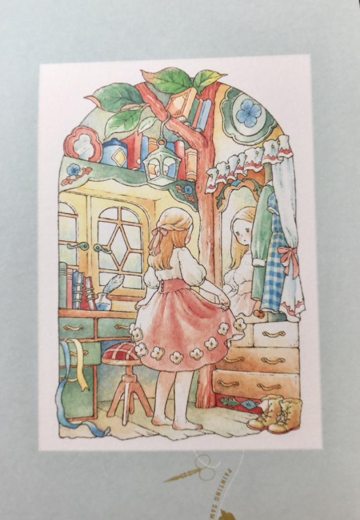 ida chiaki postcards  4290 710x1024 - Forest Girl Dream Coloring Postcard Book  Review