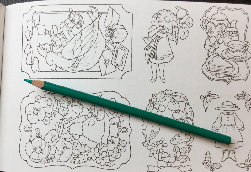 ida chiaki postcards  4297 - Forest Girl Dream Coloring Postcard Book  Review