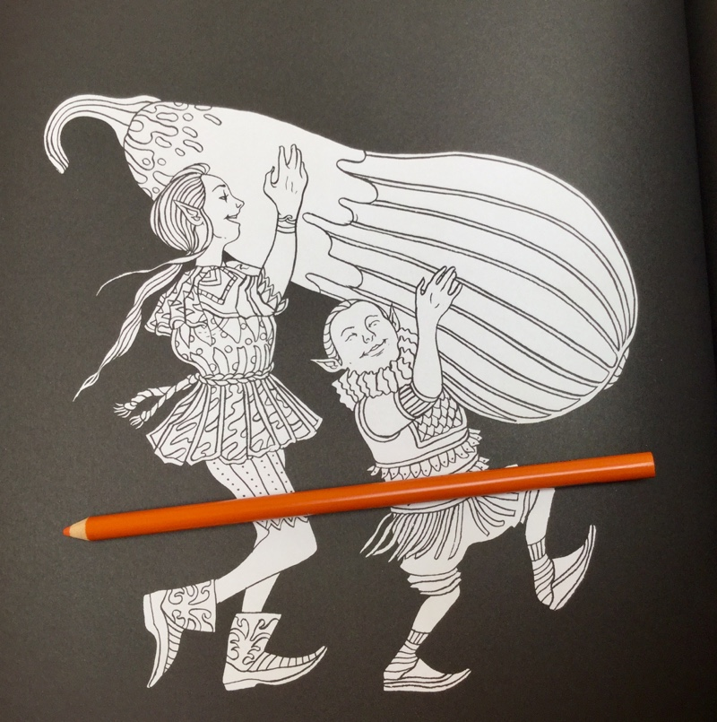 Elves in Wonderland Coloring Book Review | Coloring Queen