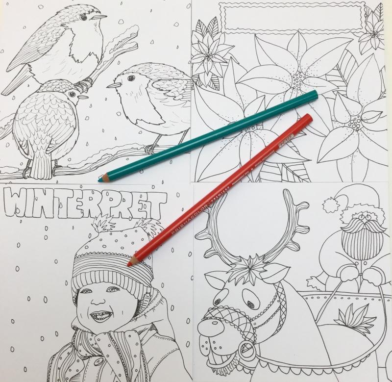 winter kleurkaarten julia woning 4338 - Winter Kleurkaarten Coloring Cards Review
