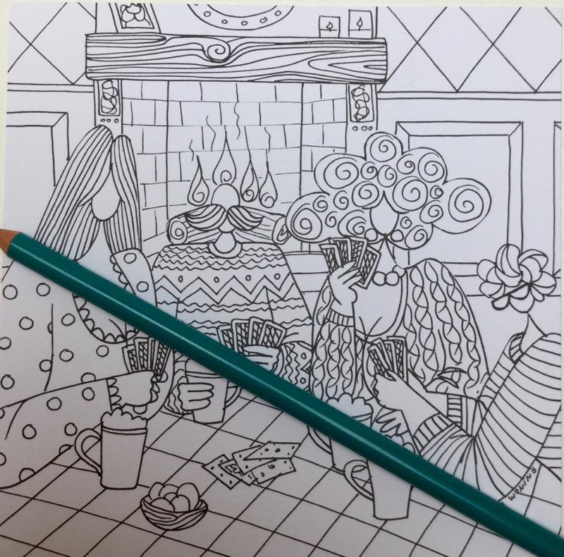 winter kleurkaarten julia woning 4339 - Winter Kleurkaarten Coloring Cards Review