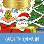 Take a peek at these Dutch Christmas cards to color in by Julia Woning