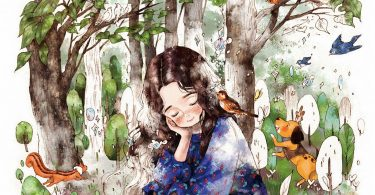 forest girl coloring book 375x195 - Die Welt unter der Lupe zu Lande Coloring Book Review
