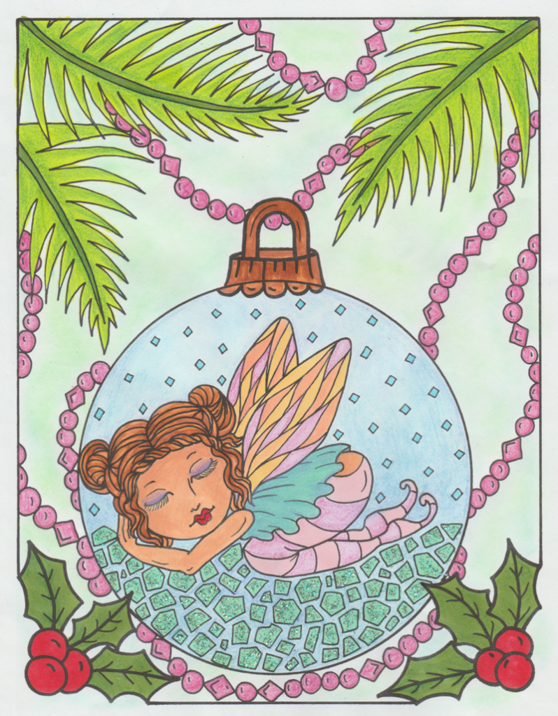 fairymerrycoloringbook 798x1024 - Fairy Merry Coloring Book Review