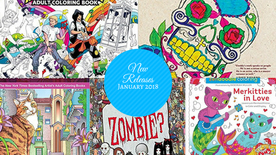 New Releases 2 - Coloring Books - New Releases - January - 2018