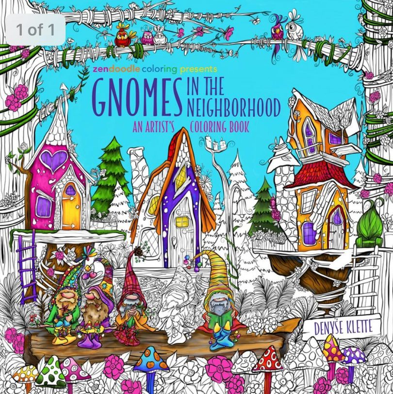 gnomes in the neighbourhood coloring book denyse klette 810x814 - Gnomes in the Neighborhood: An Artist's Coloring Book