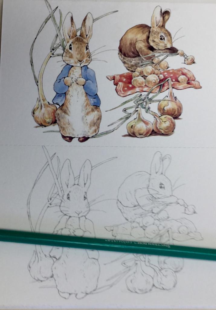 peter rabbit japanese postcard book review 4723 715x1024 - Peter Rabbit Coloring Postcards Review
