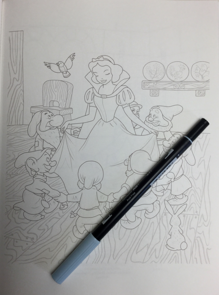 Japanese snow white coloring book 4785 762x1024 - Snow White  Kawade Shobo Coloring Book Review