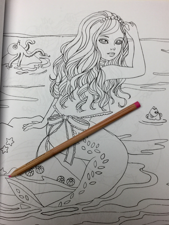 mermaid in dress coloring book 4902 - Mermaid in Dress Coloring Book Review