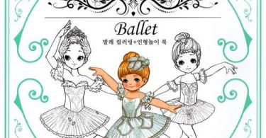 korean ballet coloring book 375x195 - Magical Forest & Ballerina Theatre 3d Colourscapes  Coloring Book Review