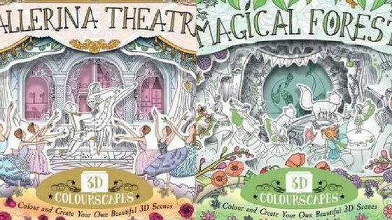 Magical Forest & Ballerina Theatre 3d Colourscapes Coloring Book
