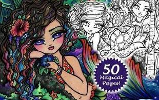 maui mermaids island whimsy girls coloring book 310x195 - Magical Forest & Ballerina Theatre 3d Colourscapes  Coloring Book Review