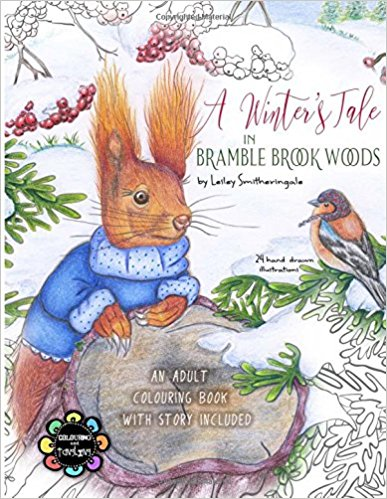 A Winter's Tale in Bramble Brook Woods: Adult Colouring Book