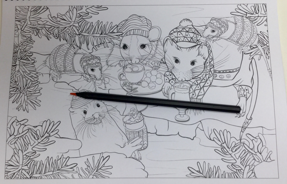 a winters tale 4843 - A Winter's Tale in Bramble Brook Woods Coloring Book Review