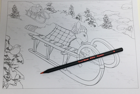 a winters tale 4845 - A Winter's Tale in Bramble Brook Woods Coloring Book Review