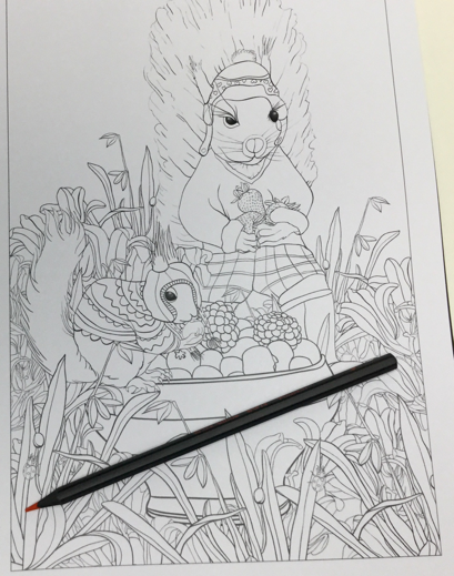 a winters tale 4846 - A Winter's Tale in Bramble Brook Woods Coloring Book Review