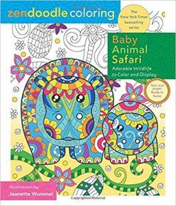 Zendoodle Coloring – Baby Animal Safari  Coloring Book Review