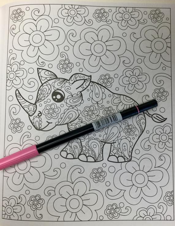 Zendoodle Coloring - Baby Animal Safari Coloring Book Review ...